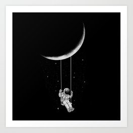 Moon Swing Art Print