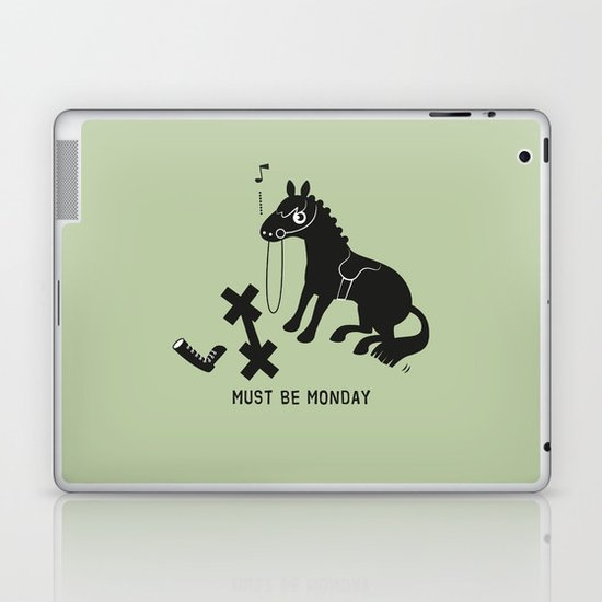 Must Be Monday, Horse Laptop & iPad Skin