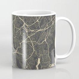 Oslo Map yellow Coffee Mug
