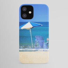 Blue Rocking Chair iPhone Case