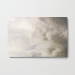 Blue Sky with Gray Clouds Metal Print