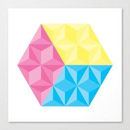 CYM Cube Canvas Print