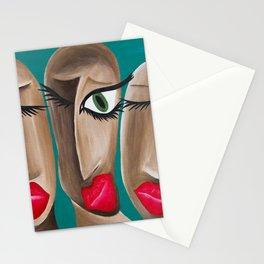 Eye Bird Lipstick  Stationery Cards