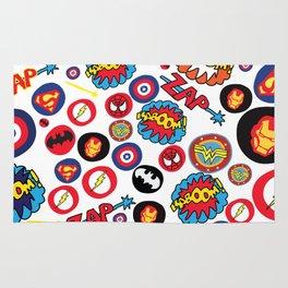 Superhero Stickers Rug