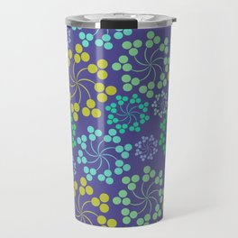 Fun Multicolored Whirligig Pattern Travel Mug