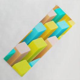 Color Blocking Pastels Yoga Mat