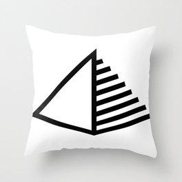 Pyramid Icon Logo Throw Pillow
