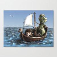 voyage Canvas Prints featuring Voyage by Allan McInnes