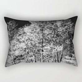 Black and White Ash Trees Rectangular Pillow