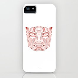 Autobot Tech Red iPhone Case