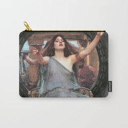 Circe offering the Cup to Odysseus - John William Waterhouse Carry-All Pouch