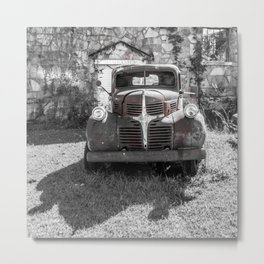 Abandoned Truck Phillipsburg Missouri Gutted Gymnasium Route 66 Metal Print