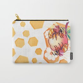Bees & Apricot Carry-All Pouch