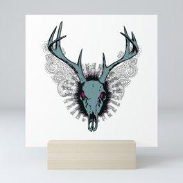 Deer skull Mini Art Print