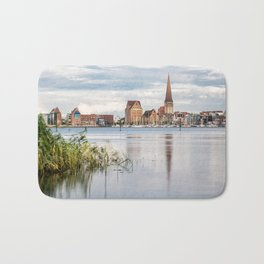 View over the river Warnow to Rostock Bath Mat