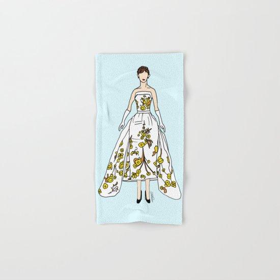 Audrey Hepburn Vintage Retro Fashion 2 Hand & Bath Towel