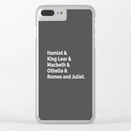 The Shakespeare Plays I Clear iPhone Case