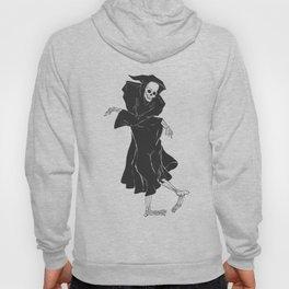 Dancing reaper - silhouette grim - skeleton cartoon - night angel Hoody