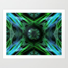 Primitive energy Art Print