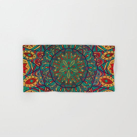 Tribal Mandala Hand & Bath Towel