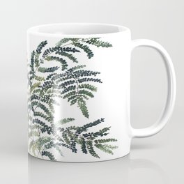Woodland Fern Botanical Watercolor Illustration Painting Coffee Mug
