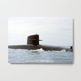 USS LEWIS AND CLARK (SSBN-644) Metal Print