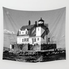 Rockland Harbor Breakwater Lighthouse  Wall Tapestry