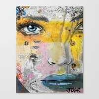 Canvas Prints featuring I LOVE NOT KNOWING by LouiJoverArt