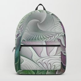 Colorful Fantasy Flower, Abstract Fractal Art Backpack