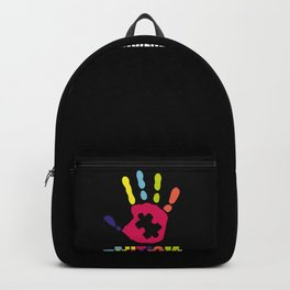 Autism Awareness Colorful Hand design Gift for Mom Backpack