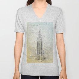 Empire State Building, New York USA Unisex V-Neck