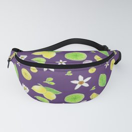 Yellow Green Lemon and Azahar Flower Fanny Pack