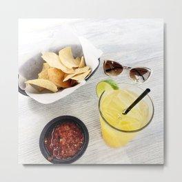 Margarita Chips and Salsa Metal Print