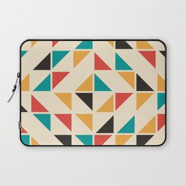 Triangles Mid Century Pattern Laptop Sleeve