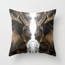Symmetrical Canyon Throw Pillow