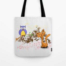 gufo e gatto 1 Tote Bag
