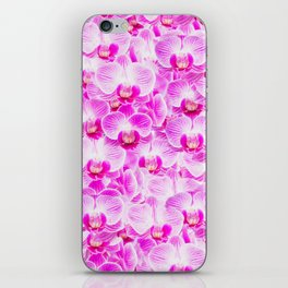 Pink Pattern Orchids Galore iPhone Skin