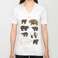 dwight V-neck T-shirts featuring Bears by Amy Hamilton