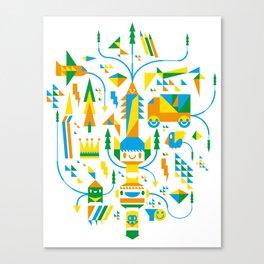 Shape-A-Licious Canvas Print