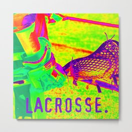 LACROSSE PLAYER Metal Print