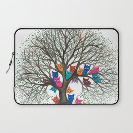 Connecticut Whimsical Cats in Tree Laptop Sleeve