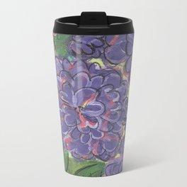 Purple flowers Metal Travel Mug