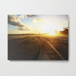 Run into the Sunset Metal Print