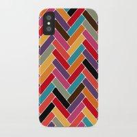 herringbone iPhone & iPod Cases featuring herringbone by Sharon Turner