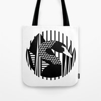 black swan Tote Bags featuring black swan by Gray