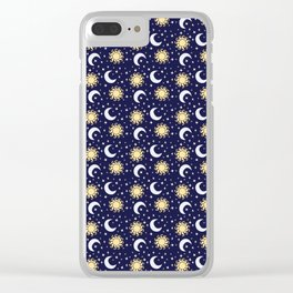 Greek Inspired Suns and Moons with Stars Clear iPhone Case