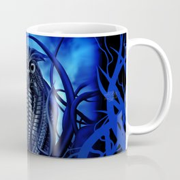 Mechanical Owl - Blue Coffee Mug
