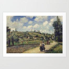 Camille Pissarro - Côte du Valhermeil, Auvers-sur-Oise Art Print