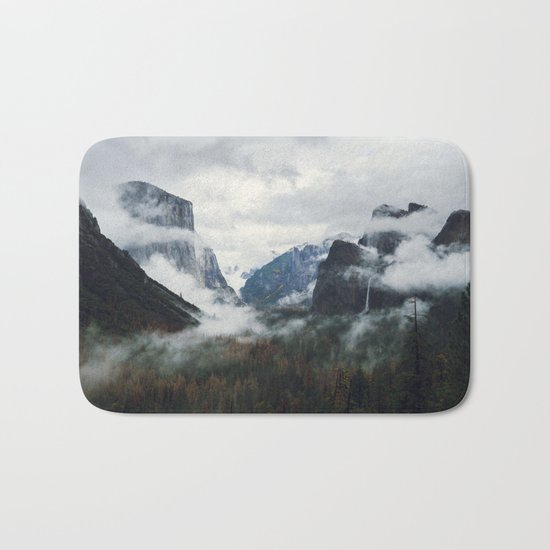 Mountain Landscape photography Bath Mat