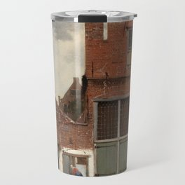 """Johannes Vermeer """"View on Houses in Delft (also known as 'The Little Street')"""" Travel Mug"""